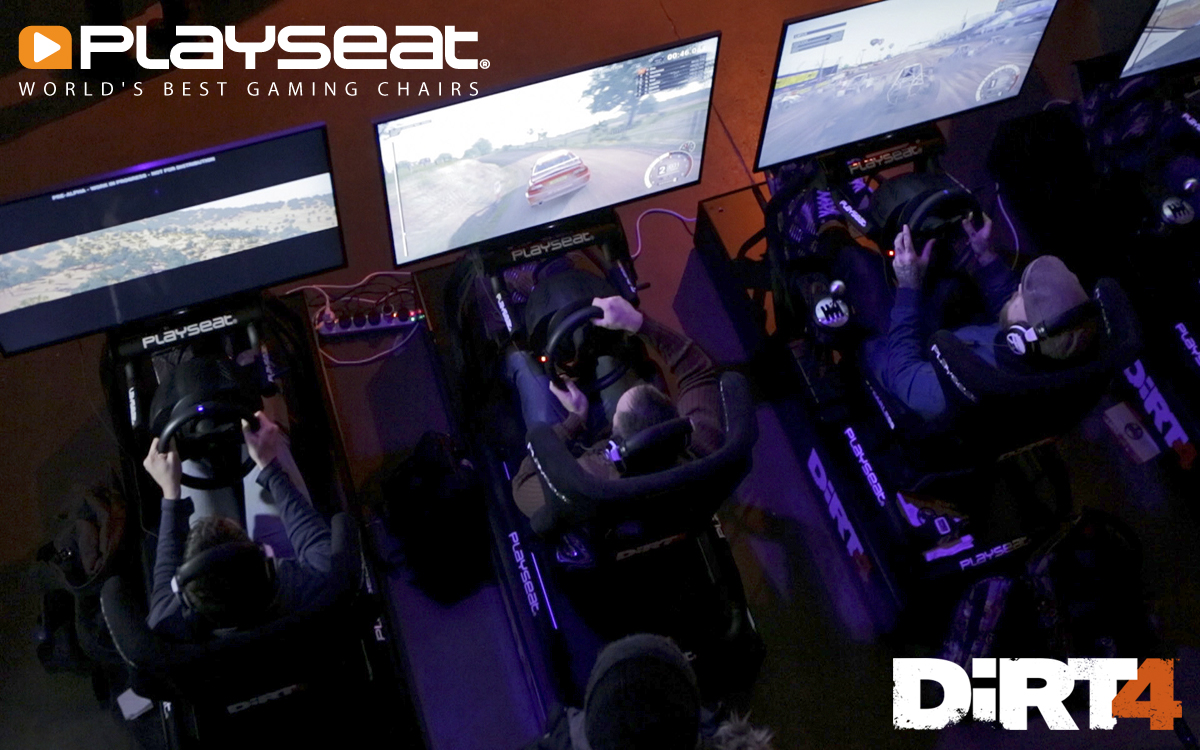 Playseat® at the DiRT 4 announcement event!