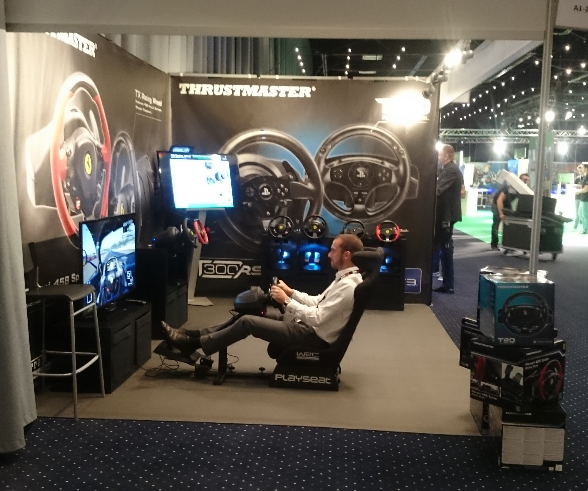 Playseat® WRC at Thrustmaster stand